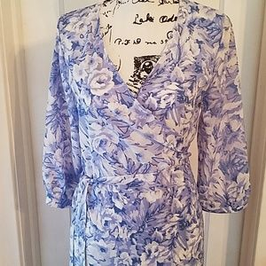 Blue floral maxi dress SIZE 8